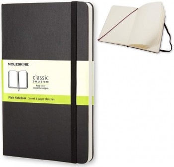 Cuaderno classic Moleskine tapa dura pocket 192h liso color negro