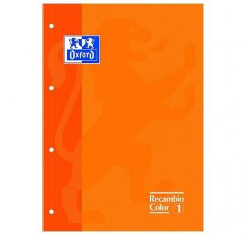 Recambio color tapas blandas A4+  80 5x5 naranja