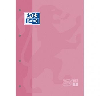 Recambio Oxford color tapas blandas A4+  80 5x5 rosa pálido claro