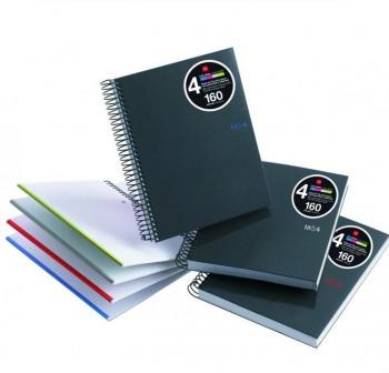 Cuaderno Miquel Rius microperforado Note Book 4 A4 160h cuadrícula 90gr colores mr