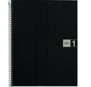 Cuaderno Miquel Rius microperforado Note Book1 A5 80h cuadrícula polipropileno 70 g/m2 gris mr