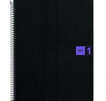 Cuaderno Miquel Rius microperforado Note Book1 A5 80h cuadrícula polipropileno 70 g/m2 violeta mr