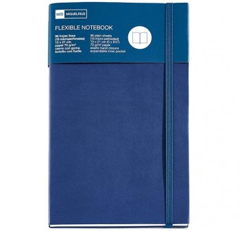 Cuaderno Miquel Rius flexible top candy colours 8º liso con goma azul marino