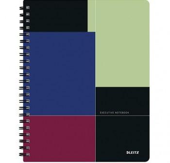 Cuaderno Executive Get Organised microperforado con separadores extraibles y funda A4 80h. 80gr 5x5