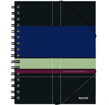 Cuaderno Executive Be Mobile microperforado con separadores y cierre goma 80h. 80gr 5x5 Cubierta PP