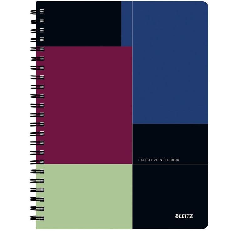 Cuaderno Executive Project microperforado con fundas y hoja de proyectos 80h. 80gr 5x5 Cubierta PP