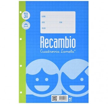 Lamela  Recambio 100h 70g 4 taladros cuadrovía 3mm Folio