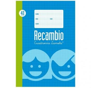 Lamela  Recambio 100h 70g 4 taladros cuadrovía 4mm Folio