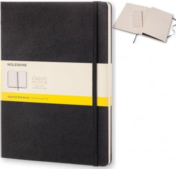 Moleskine Cuaderno clásico tapa dura negra xl cuadriculada