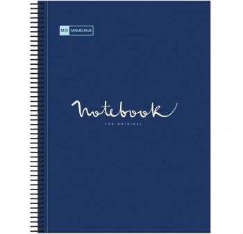 Miquel Rius Cuaderno microperforado tapa PP Note Book-5 Original 120h 90g cuadrícula 5x5 A4 Azul mar