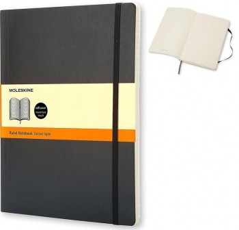 Moleskine Cuaderno clásico tapa blanda negra p cuadriculada