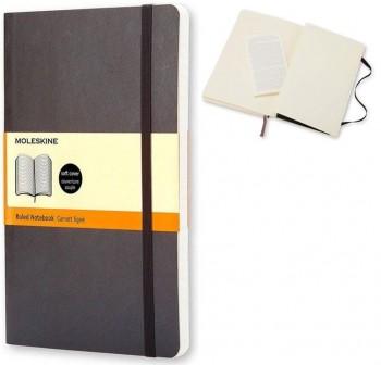 Moleskine Cuaderno clásico tapa blanda negra l rayada