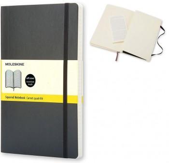 Moleskine Cuaderno clásico tapa blanda negra l cuadriculada