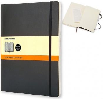 Moleskine Cuaderno clásico tapa blanda negra xl cuadriculada