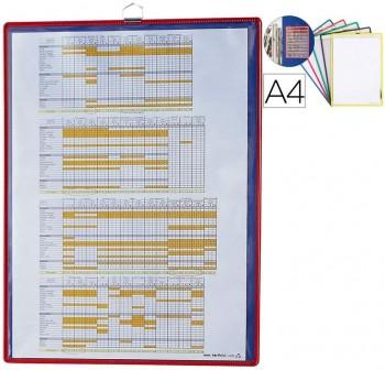 Tarifold Pack 5 fundas señalización con anilla A4