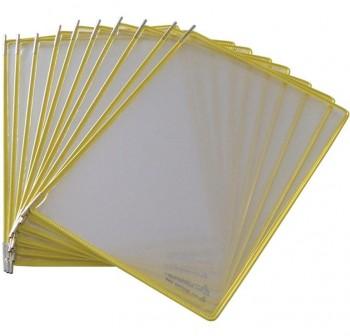 Tarifold Pack 10 fundas con pivotes A4 amarillo