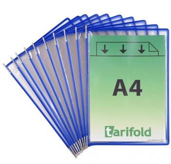 Tarifold Pack 10 fundas con pivotes A4 azul