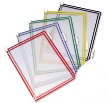 Tarifold Pack 10 fundas con pivotes A4 colores surtidos
