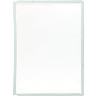 Caja 5 fundas clasificadores Sherpa a4 transparentes marco gris