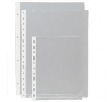 Caja 50 fundas portadocumentos pvc lomo reforzado 16 taladros a4 transparente
