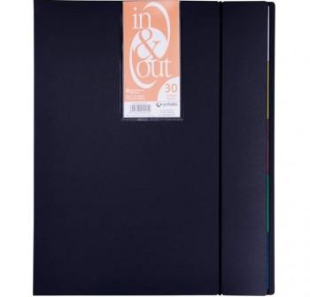 Carpeta fundas extraíbles in&out 30 fundas A4 negro