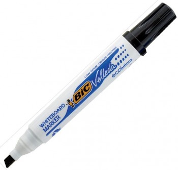 Marcador Pizarra punta biselada Bic Velleda whiteboard marker trazo 5,5mm negro
