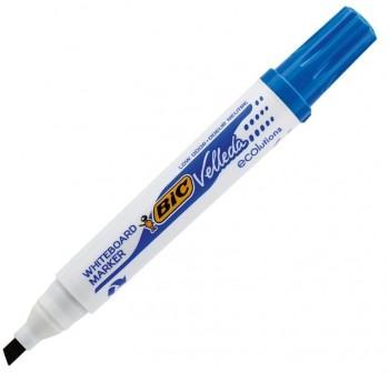 Marcador Pizarra punta biselada Bic Velleda whiteboard marker trazo 5,5mm azul