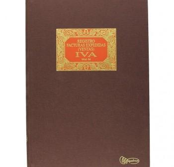 Libro forrado tela mod 64 facturas expedidas iva folio 100h
