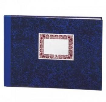 Cuaderno cartóne Dohe 100h rayado horizontal folio apaisado azul