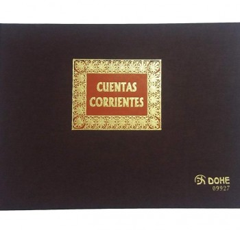 Libro cuentas corrientes forrado tela 100h numeradas folio apaisado