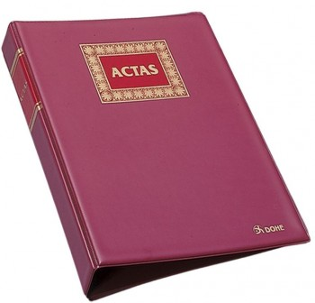 DOHE Libro cont. actas recambiables folio natural 100h