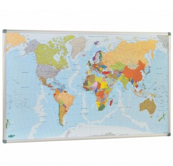 Mapa Faibo Mundi magnético 84x140 cm