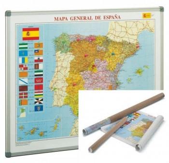 Mapa Faibo de España enrollado en tubo de cartón 72x93 cm