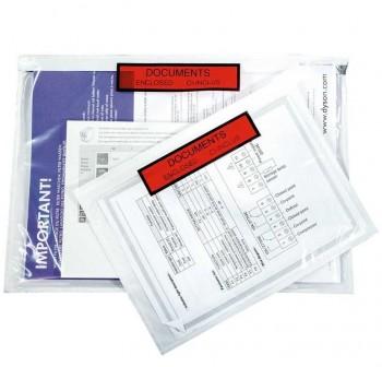 Caja 250 sobres Adhesivos Portadocumentos dokufix texto impreso 225x122mm (int)