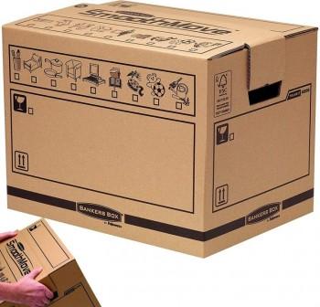 Fellowes Pack de 10 cajas de transporte y mudanza y Cargo Box Extra Resistente 660x370x350cm