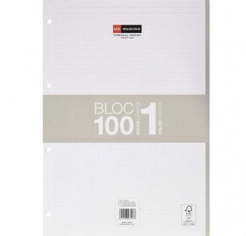 Recambio Cuaderno microperforado note book 100h A4 cuadricula gris