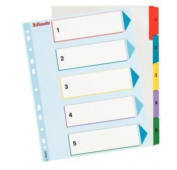 ESSELTE Indices de Proyectos Borra y Re-escribe 5 colores