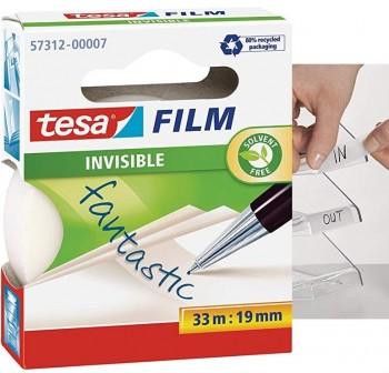 Cinta adhsevia Tesafilm  invisible 33m x 19mm en mancheta