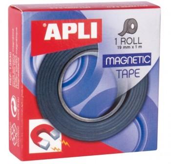 Cinta magnética adhesiva Apli 19mm x1m