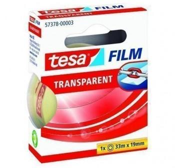 Cinta adhesiva transparente Tesafilm  33m x 19mm en mancheta