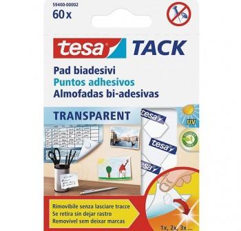 Masilla adhesiva Tesatack 60 puntos adhesivos transparentes