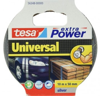 Cinta americana Tesa extra power universal 10m x 50mm plata