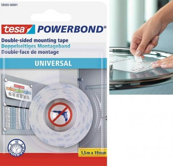 Cinta adhesiva doble cara Powerbond Universal 1,5mx19mm