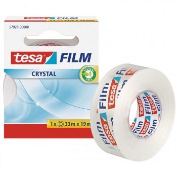Cinta adhesiva tesafilm Crystal 33mx19mm en mancheta