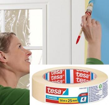 Tesa Cinta de pintor Standard para perfiles rectos 50mx25mm