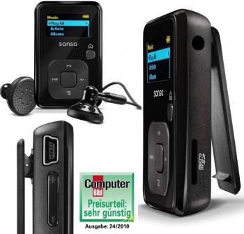 SANDISK Reproductor MP3 com radio sansa clip EU 2GB Negro LPI Incluido