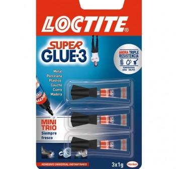 Pack 3 Botes pegamento Loctite super glue 3 mini 1gr
