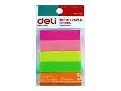 DELI Notas q/pon 50x15mm. surtido 5 colores (100hojasxColor)