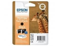 EPSON Cartucho inkjet T0711H pack 2 original NEGRO