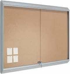 PS Vitrina fondo corcho natural 1 puerta vertical y  llave 70X75cm